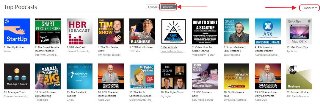 How to find podcast rank step 4