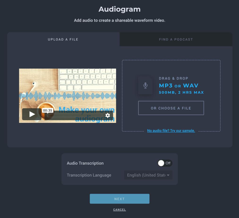 Headliner Video Series - EP1 How to Create Audiogram Video with Headliner Audiogram Wizard 4
