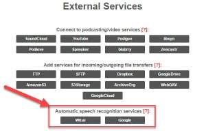 Auphonic external services 1